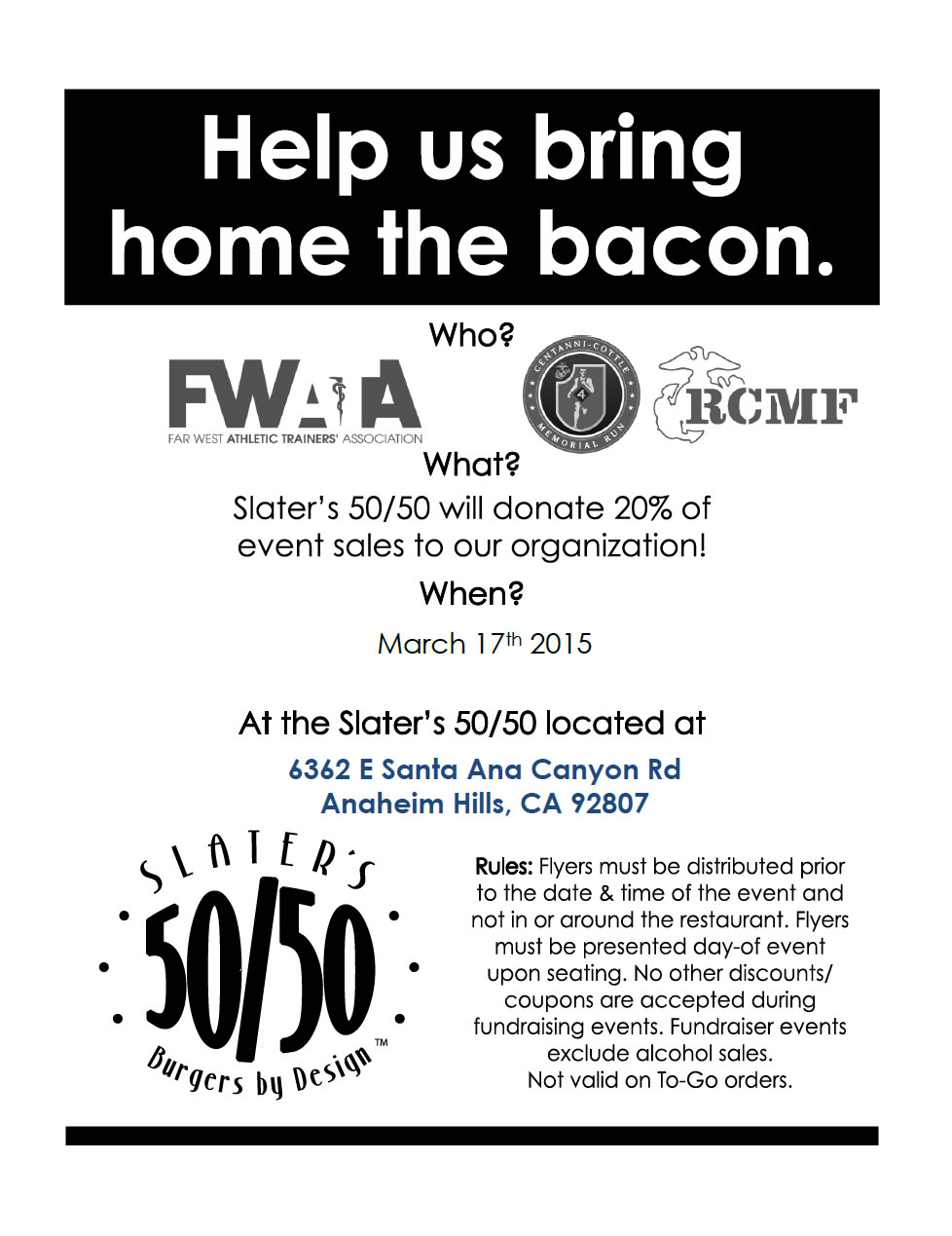 Rick Centanni Memorial Fund Fundraiser 3 17 2015 At Slaters